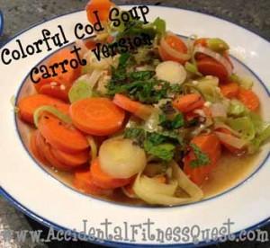 Colorful Cod Soup - Carrot Version