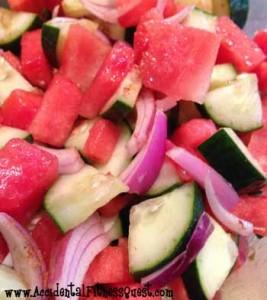 Cucumber Watermelon Salad