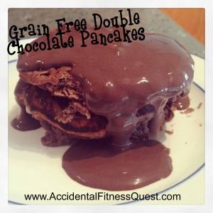 Grain Free Double Chocolate Pancakes